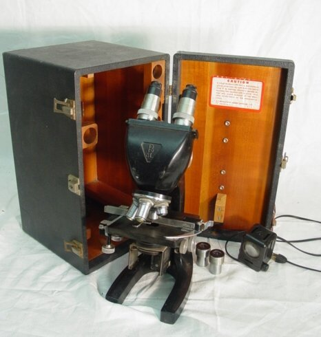 6: Bausch and Lomb cased microscope, I6033-44
