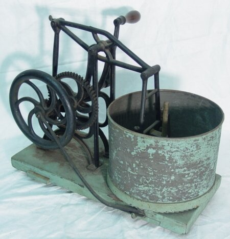 13: Antique metal hand crank food chopper