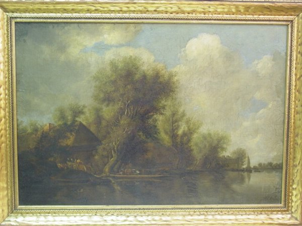 17: 19th c. oil on board, landscape