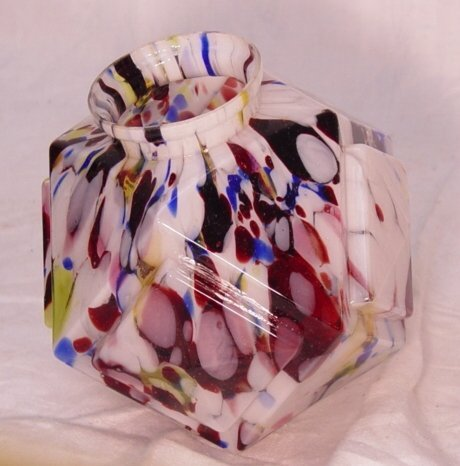 "19: End of day art glass lamp shade, 7"" x 6"""