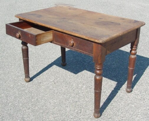 23: Victorian oak kitchen work table