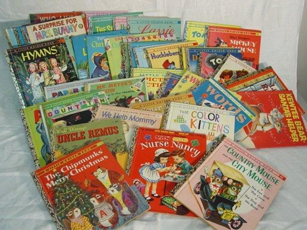 210: Large lot Children's Golden Books  - 2