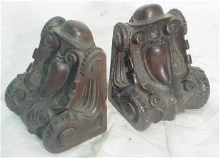 Pair gothic bookends