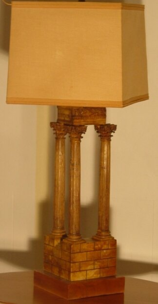 1004: Marble column lamp