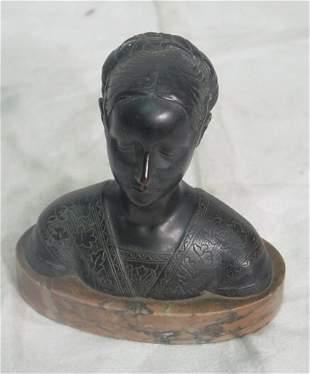 bronze bust of Cordelia