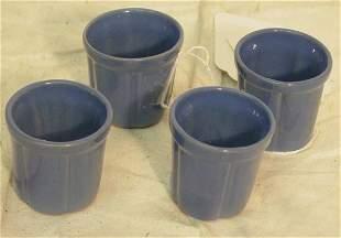 four Frankoma shot glasses