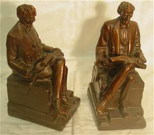 Pair Lincoln bookends