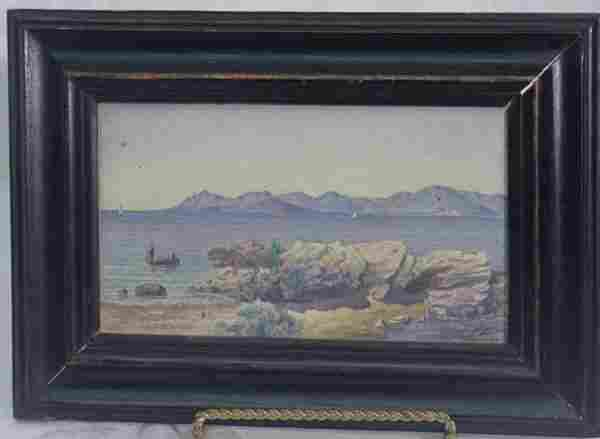 Canns watercolor seascape