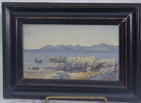 1015: Canns watercolor seascape