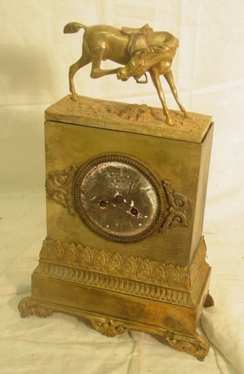 1017: French brass mantel clock