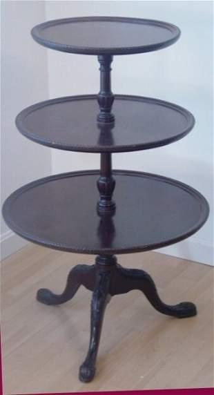 mahogany 3 tiered table