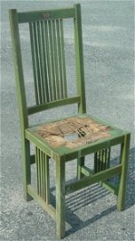 1119: Mission oak side chair