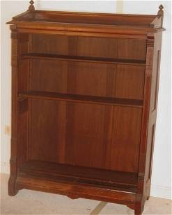 Eastlake walnut bookshelf