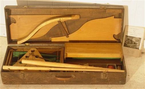 cased bowling table alley