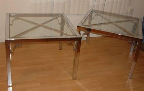 pair modern end tables