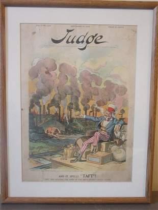 framed Judge lithograph