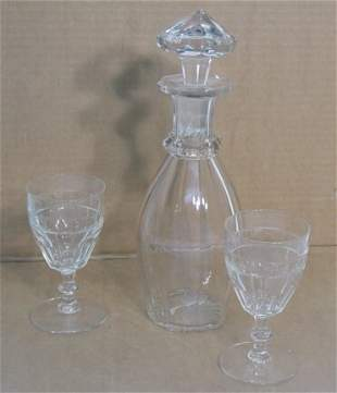 Three pieces clear glass