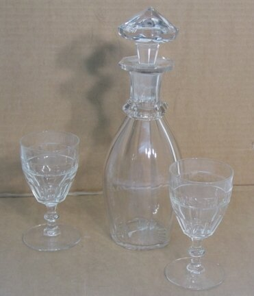 2002: Three pieces clear glass