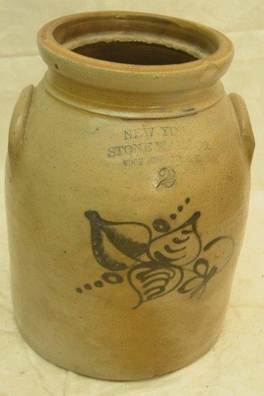 2003: New York stoneware crock
