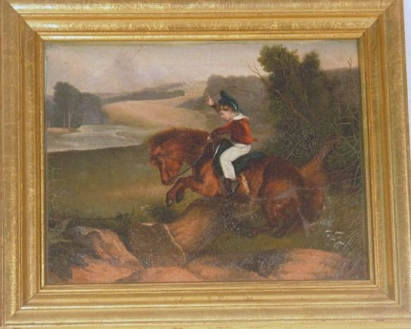 2009A: equestrian oil on canvas