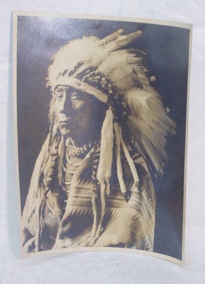 2011: Photograph of Indian chief