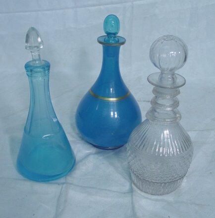 2013: three 19th c. blown glass decanters