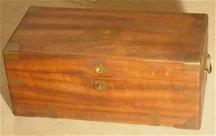 Brass bound camphor chest