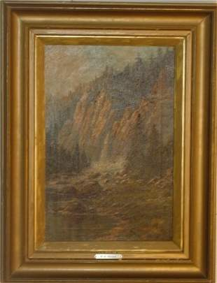 oil on canvas by WA Carson
