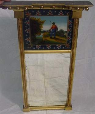 reverse painted tablet mirror