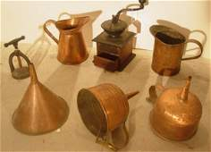2022 lot with copper and coffee mill