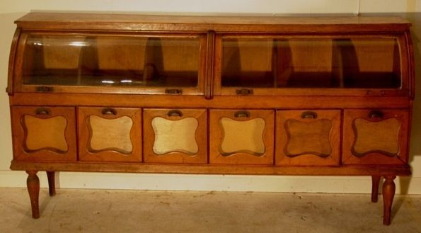 important country store oak cabinet