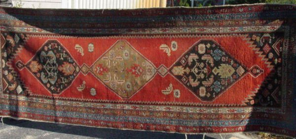 7: Antique Hamadan oriental carpet runner