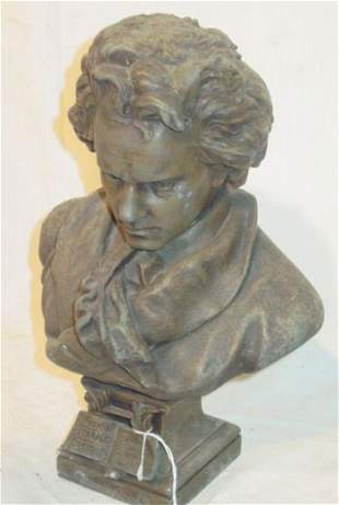 Victorian bust of Beethoven