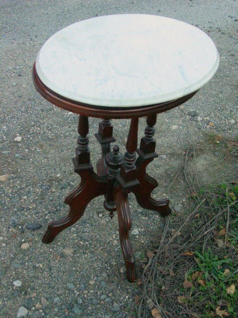 23: Period marble top table