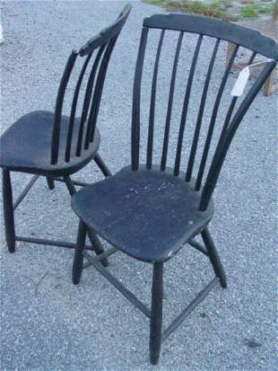 Pair step back Windsor chairs