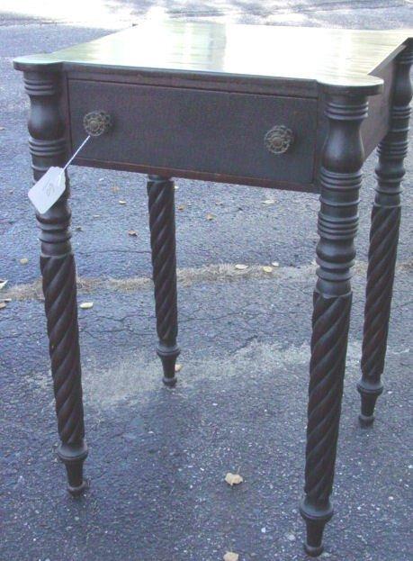 60: period Sheraton one drawer stand