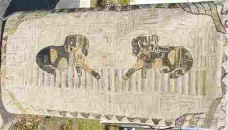 94: folk art hooked rug