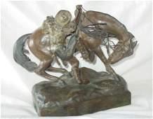 108: C Kauba bronze of cowboy