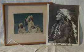 1130: 2 Native American Indian photographs