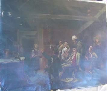 1135: American painting of Revolutionary war scene