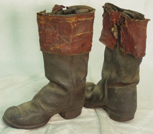12: Antique child's leather boots