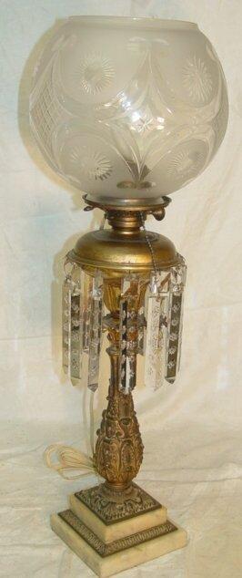 131: Bronze astral lamp