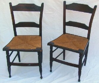 1004: Pair period Sheraton side chairs