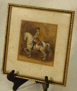 1009: Watercolor painting of Lipizzan stallion
