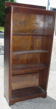 1016: open oak bookcase