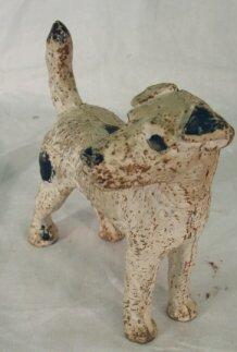 1017: antique dog doorstop
