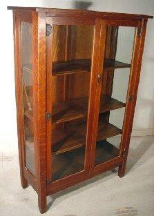 1062: Stickley Bros. china closet