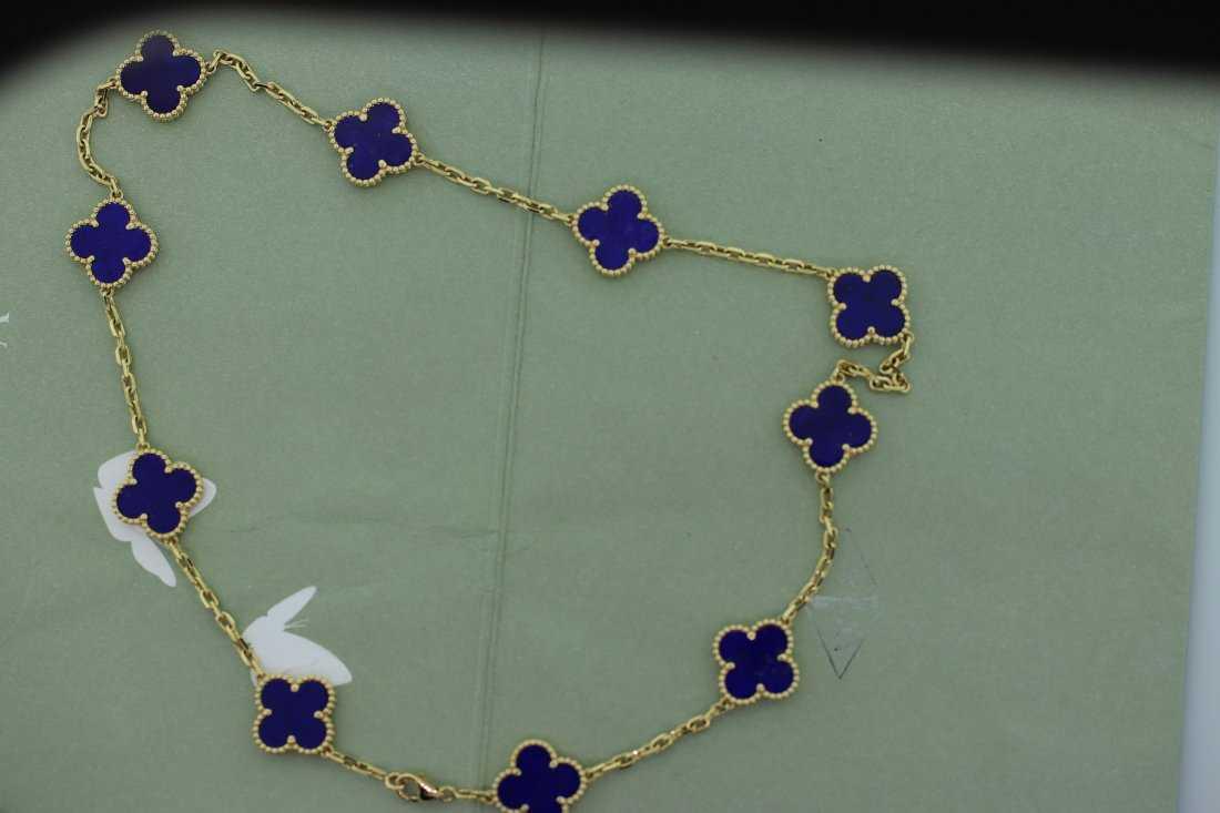91bf7afbf2329 Van Cleef   Arpels Vintage Alhambra 10 Motif Necklace