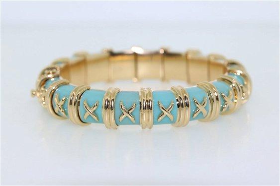 44575c92b Schlumberger Diamond Enamel Wide Bracelet · placeholder Tiffany & Co. Schlumberger  Croisillon Bracelet ...