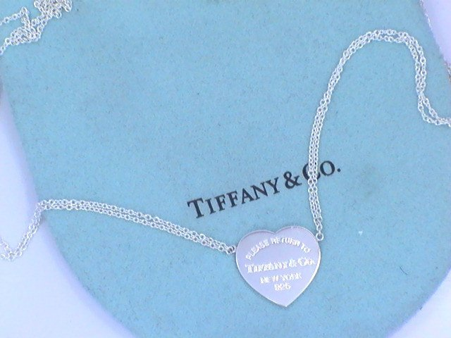"""Tiffany & Co Heart Tag Double Chain Necklace.""""NR"""""""